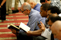 Members of the new Islamic Center in Murfreesboro, Tennessee worship on August 10, 2012